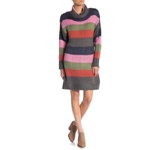NWOT Solutions striped knit sweater dress